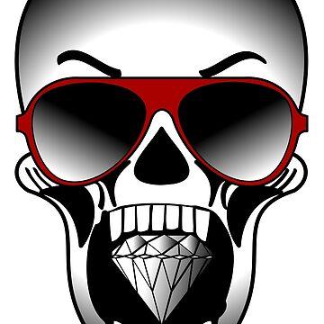 Cool Skull Biting Diamond by JohnChocolate