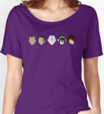 Team Avatar graphic heads Women's Relaxed Fit T-Shirt
