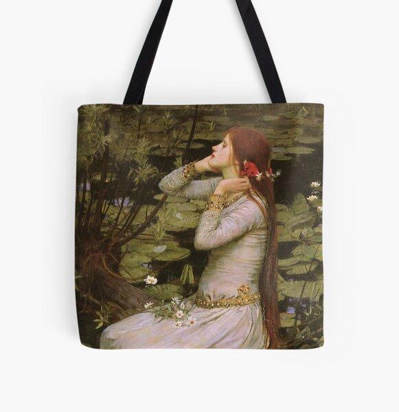 Ophelia - John William Waterhouse All Over Print Tote Bag