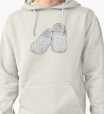 Crocs Clog White Shoe  Pullover Hoodie