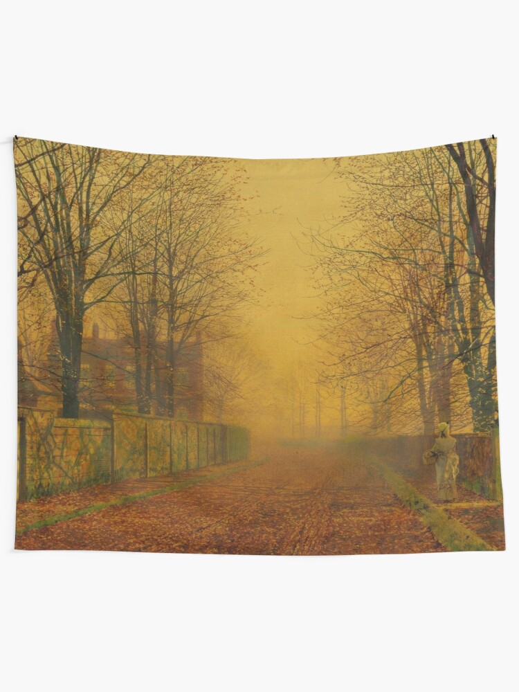 Evening Glow John Atkinson Grimshaw Tapestry By Themasters Redbubble