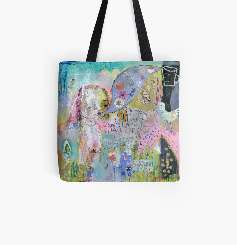 Drink in Color All Over Print Tote Bag