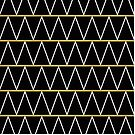 Black and gold zigzag by AbsentisDesigns