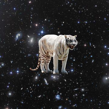 Space White Tiger by JStuartArt