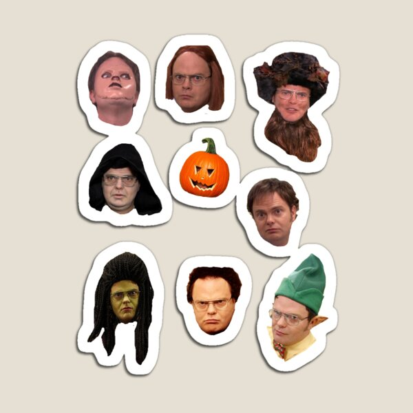 Dwight Schrute in disguise sticker pack Magnet