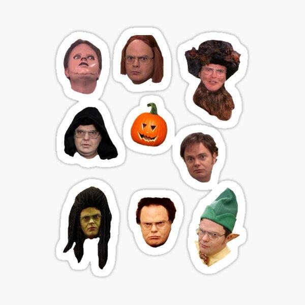 Dwight Schrute in disguise sticker pack Sticker