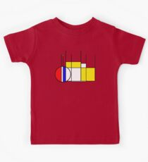 Modern Lines and Colors - Red Blue Yellow Black White Geometric Kids Clothes