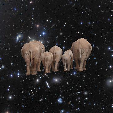 Space Elephants by JStuartArt