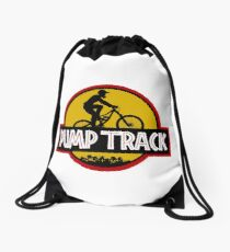 Pump Track Drawstring Bag