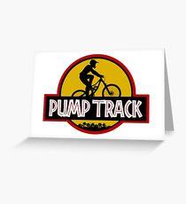 Pump Track Greeting Card