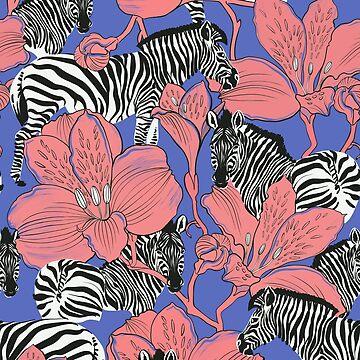 Zebras standing sideways by torysevas