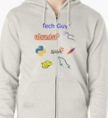 Tech Guy Zipped Hoodie