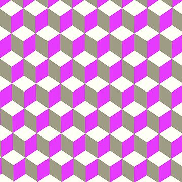 Diamond Repeating Pattern In Ultra Violet Purple and Grey  by taiche