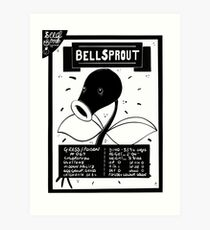 Bell Sprout Seed Packet Art Print