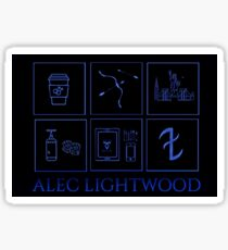 Minimalistic • Alec Lightwood •  Sticker