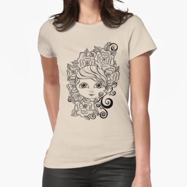 Ruby in Bloom Fitted T-Shirt