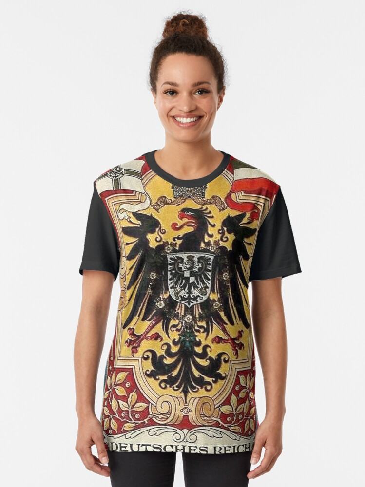 Alternate view of Kaiserzeit...German Flags and Eagle Graphic T-Shirt