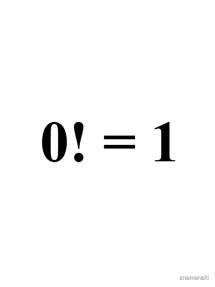 #mathematics #factorial #nonnegative #integer #denoted #product #positive #integers #less #lessthan #equal #value #according #convention #emptyproduct #MathExpression #Math #Expression #button #word by znamenski