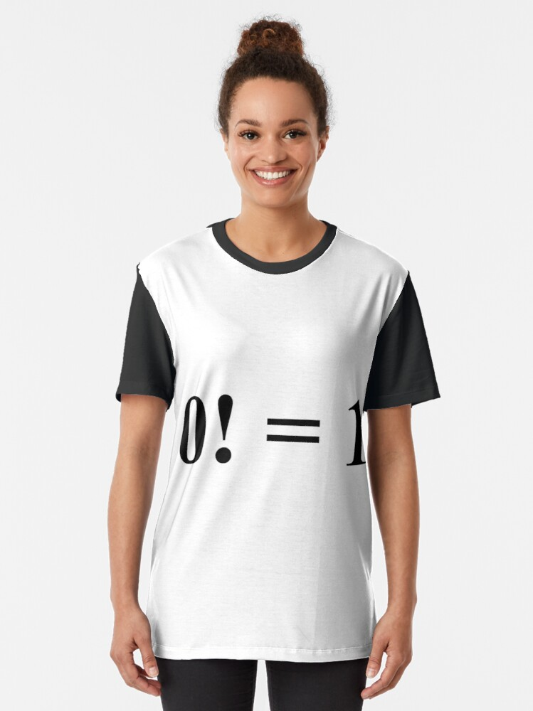 Alternate view of #mathematics #factorial #nonnegative #integer denoted product positive integers Graphic T-Shirt