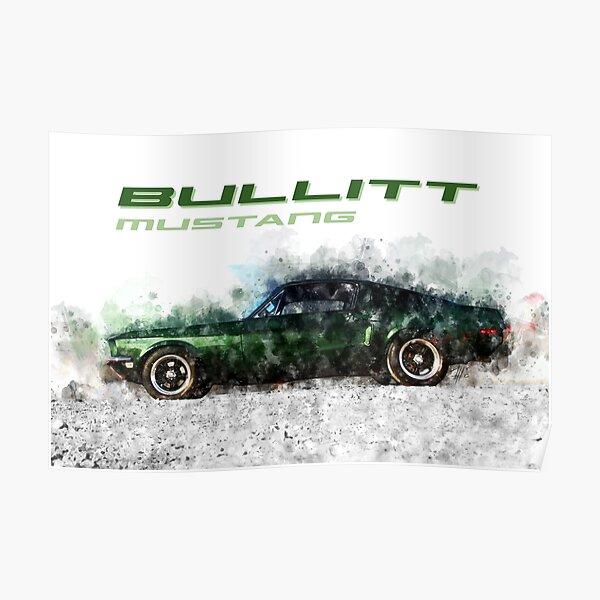 Bullitt Mustang Poster