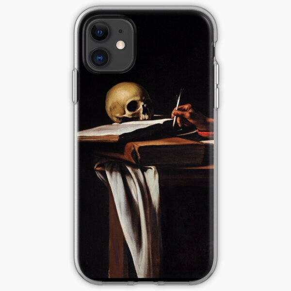 Saint Jerome Writing - Michelangelo Merisi da Caravaggio iPhone Soft Case