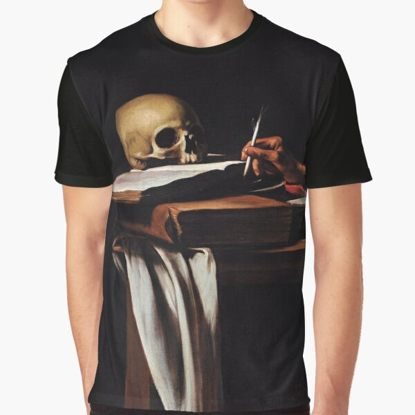 Saint Jerome Writing - Michelangelo Merisi da Caravaggio Graphic T-Shirt