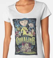 Coraline Frauen Premium T-Shirts