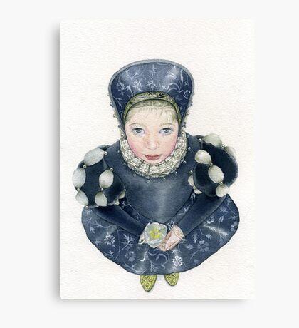 My dear little Lizetta.. Canvas Print