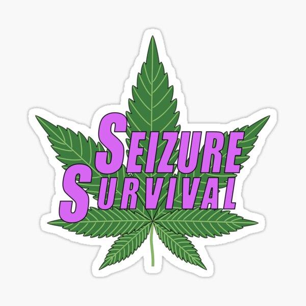 Seizure Survival with Cannabis Sticker