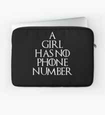 A GIRL HAS NO PHONE NUMBER WHITE Laptop Sleeve