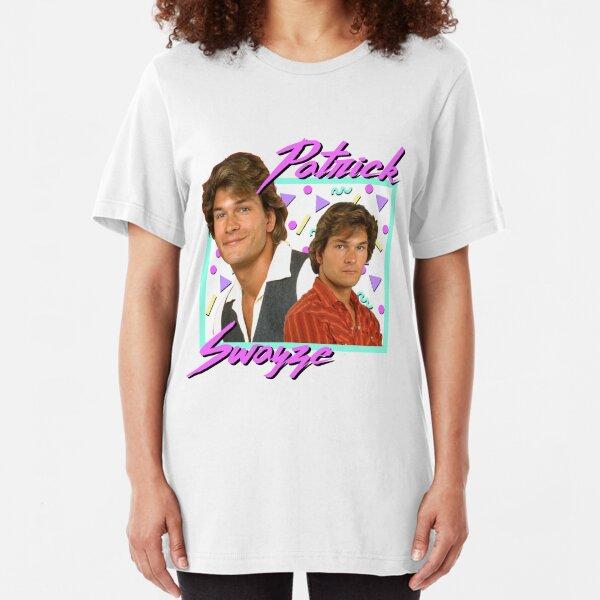 80s Patrick Swayze Slim Fit T-Shirt