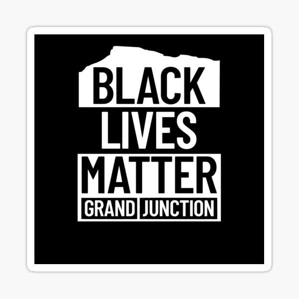Black Lives Matter GJ - Black Sticker