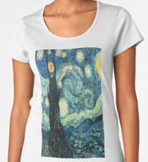 Starry Night Tardis Women's Premium T-Shirt