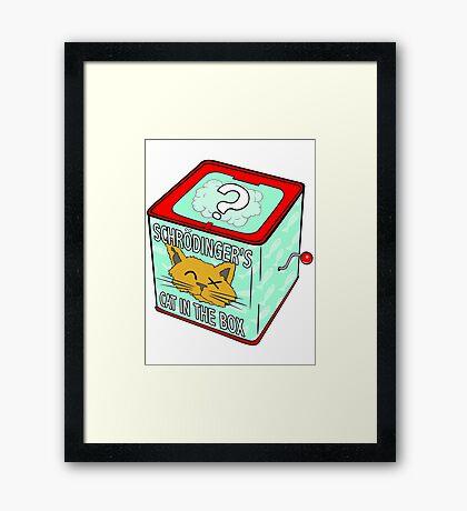 Schrödinger's Cat in the Box Framed Print