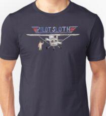 Watercolor Pilot Sloth T-Shirt