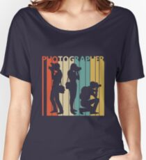 Vintage Retro Photographer Women's Relaxed Fit T-Shirt