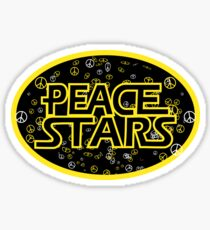 Peace Stars Logo Sticker