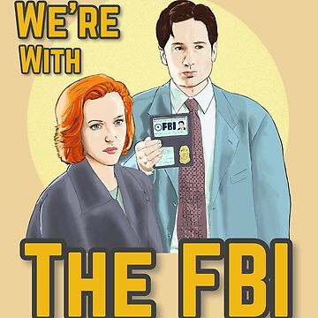 X Files we re with the FBI by Mimie ( more 70 designs XFiles in my shop) by MimieTrouvetou
