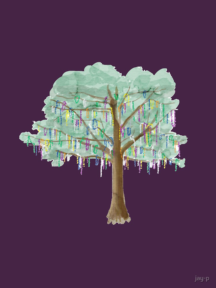 Mardi Gras Tree - Aquarell von jay-p