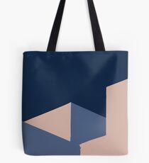 Pink and Blue Minimalist Mood Tote Bag