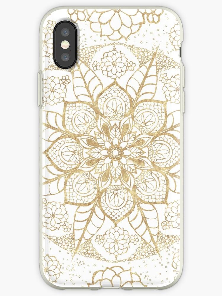 Stylish boho hand drawn golden mandala  by InovArtS