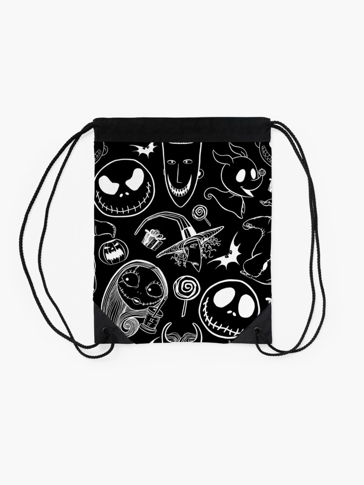 Alternate view of Nightmare before Christmas Drawstring Bag