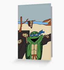 The Persistence of Pizza Greeting Card