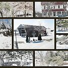 Bridges Of Madison County Collage by Linda Miller Gesualdo