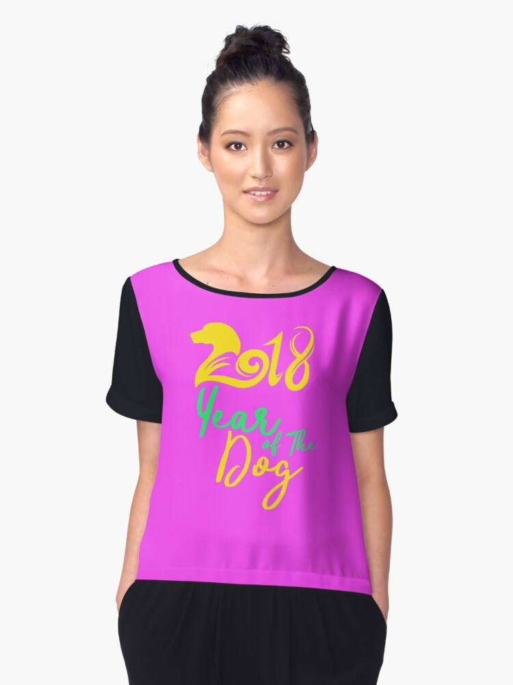 2018 Year Of The Dog Light Women's Chiffon Top Front