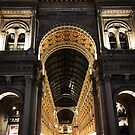 Galleria Vittorio Emanuele II at Night, Milano, Italia by Douglas E.  Welch
