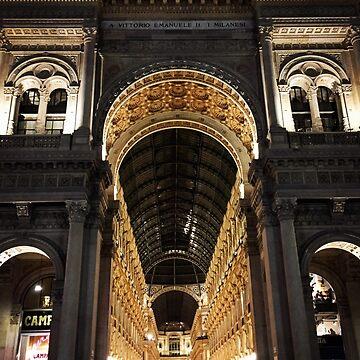 Galleria Vittorio Emanuele II at Night, Milano, Italia by douglasewelch