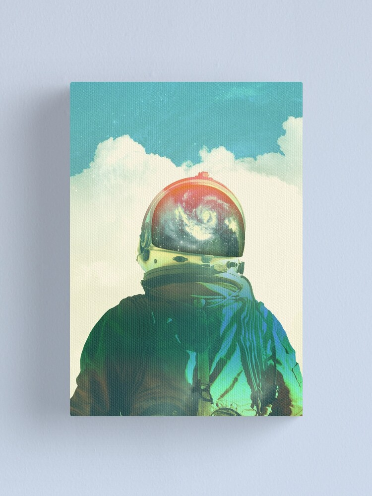 Alternate view of God is an astronaut Canvas Print