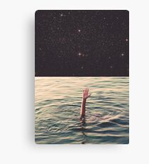 Drowned in space Canvas Print