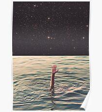 Im Weltraum ertrunken Poster